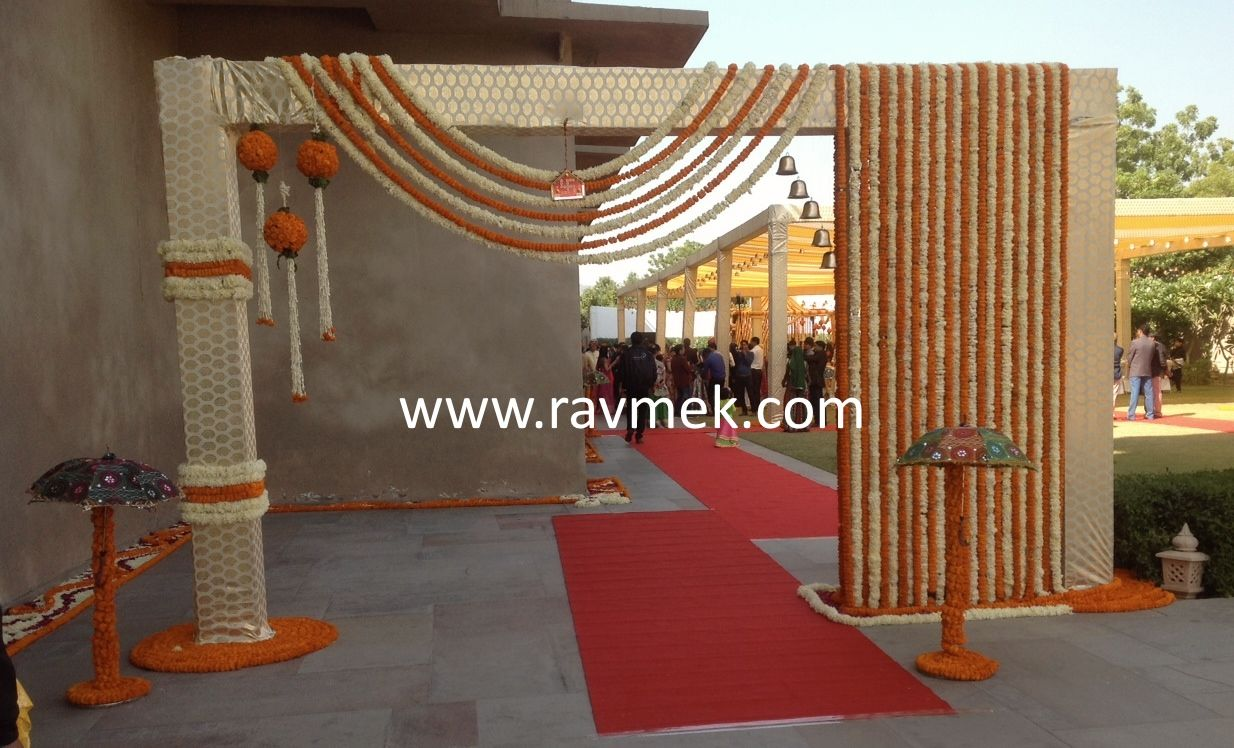 Welcome Gate At An Indian Wedding