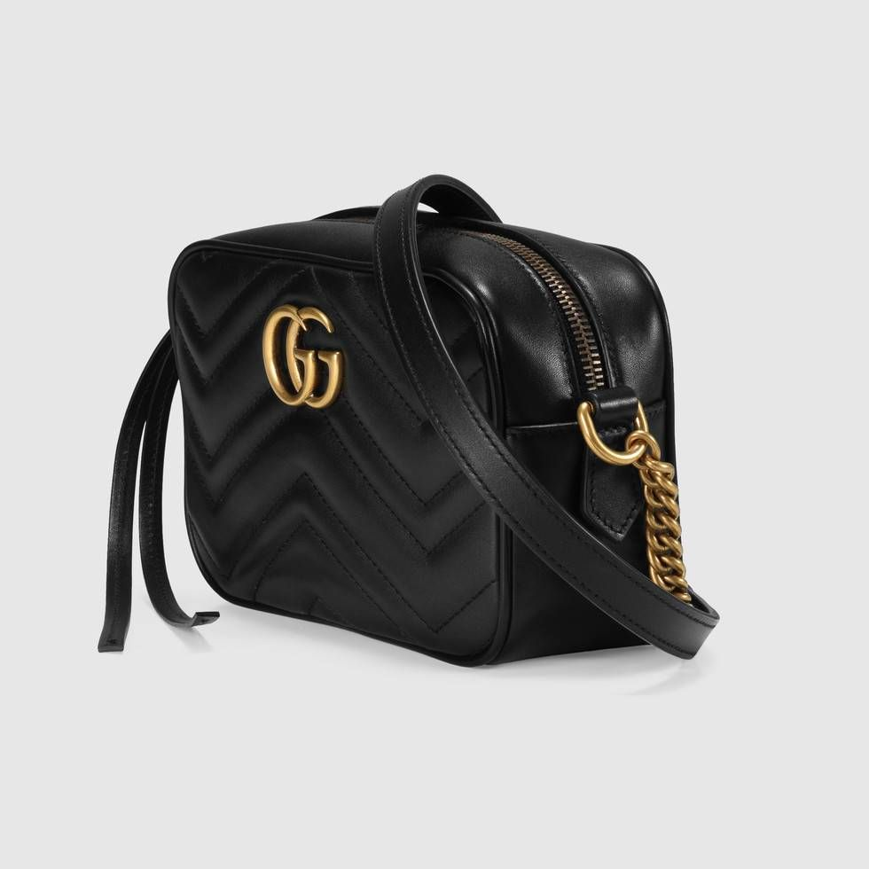 171f4584d52 Shop the GG Marmont matelassé mini bag by Gucci. The mini GG Marmont chain  shoulder