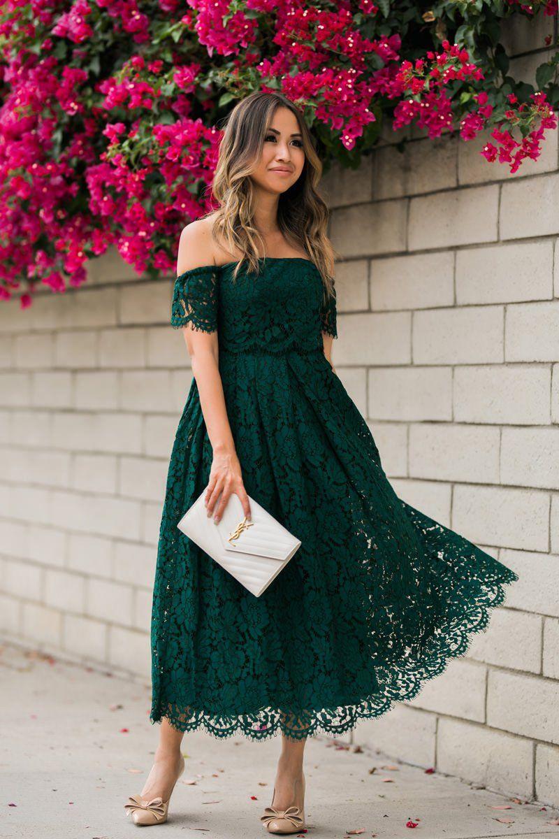 forest green dress wedding guest fd20a20