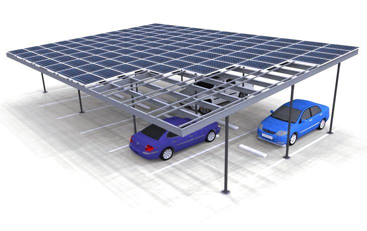 Solar Three Column Double Carport Structures Corp Carport Solar Heating Solar Panels