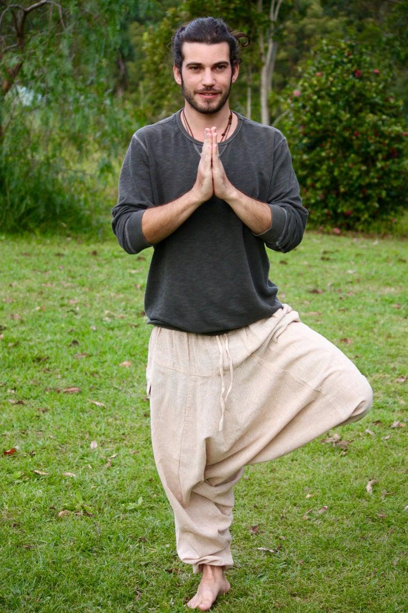 Primitive Handmade Comfortable Yoga Gypsy Boho Alibaba Aladdin Festival Goa two Pockets AJJAYA Womens Pants Green Afghani Harem Drop Crotch