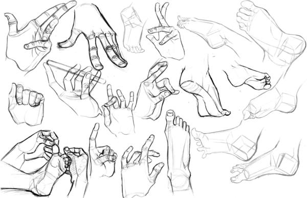 Hands and Feet by rekushi on deviantART Manga drawing