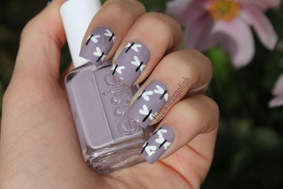 Today's Daily Nail Art is this dragonfly design by coewlesspolish. - NOTD – Dragonflies Nail Polish Blog, Dragonflies And Blog