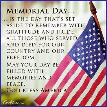 We Wish You A Safe And Happy Memorial Day We Take A Moment To