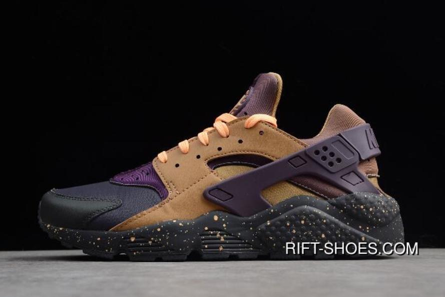 Nike Air Huarache Run Premium Anthracite/Pro Purple/Elemental Gold ...
