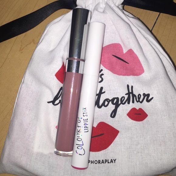 Colourpop Bundle-Lumiere 2 CP matte liquid lippie in Lumiere 2. Used once, didn't care for the color. The writing has faded in the tube. Also includes is a Satin Lippie Stick in Punky. Never used or swatched. Colourpop Makeup Lipstick