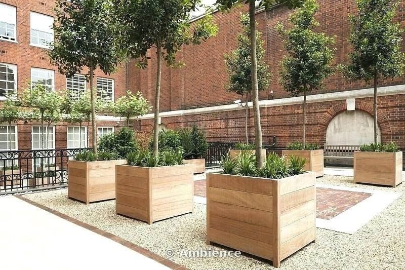 Planter Trees Large Wooden Planters For Trees Wooden Tree Planter