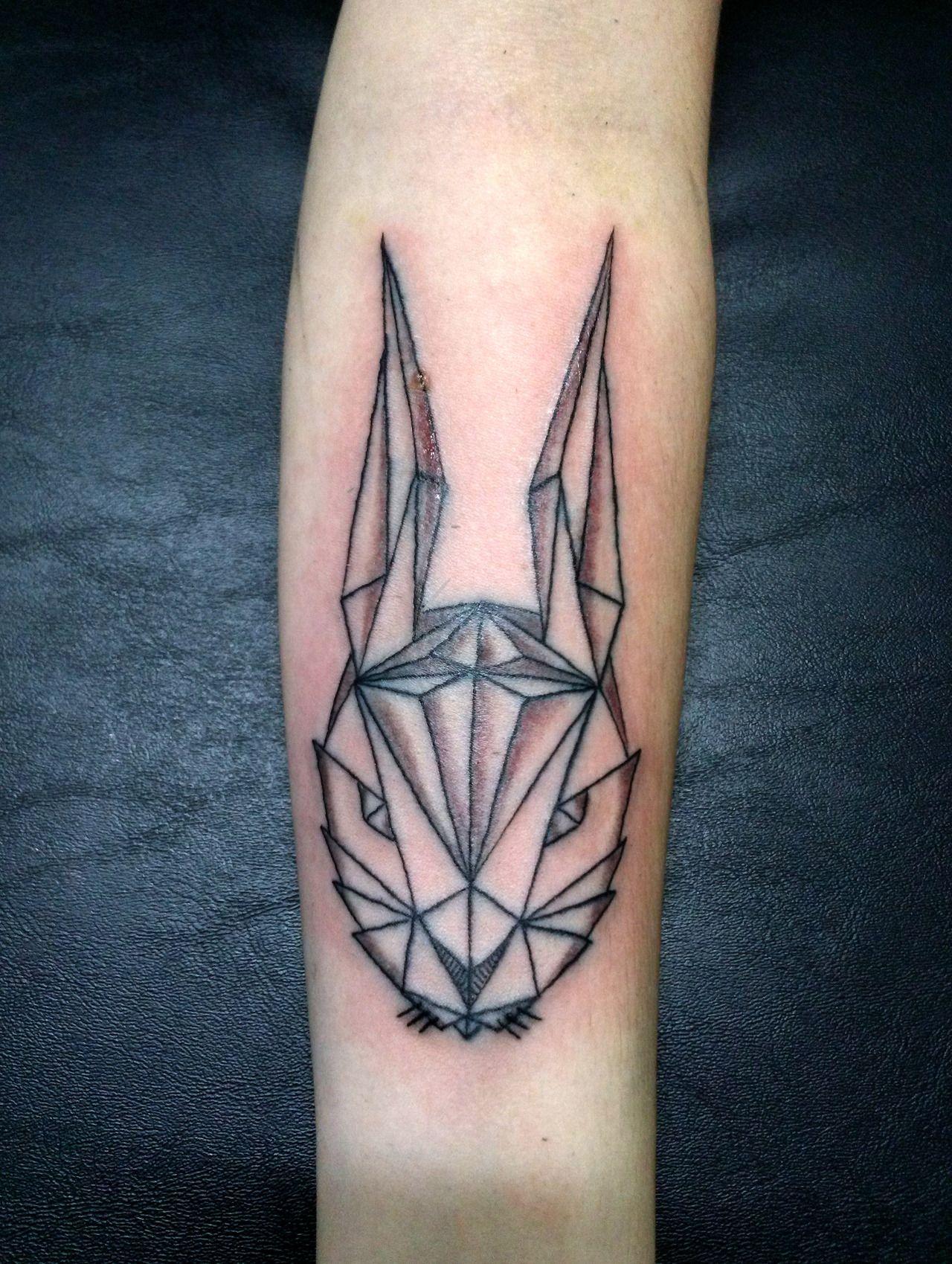 fuckyeahtattoos:  Little rabbit geometric tattoo I did last yearfb: /akaua.pasqualinstagram: @Amanda Snelson Andersonã Pasqual