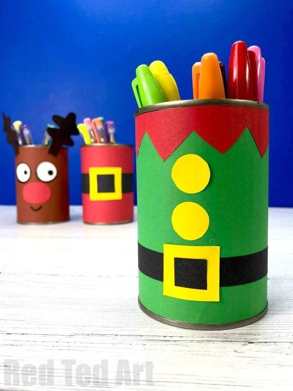 DIY Elf Desk Tidy & Pencil Pot - Red Ted Art