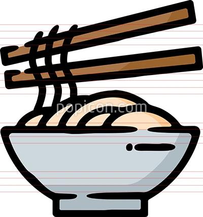 Ramen Noodles Bowl Doodle Sketch Icon Ramen Noodle Bowl Hand Drawn Icons Noodle Bowls