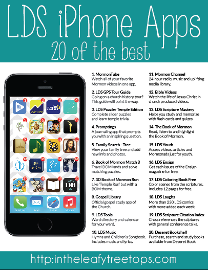 looking for the best lds iphone apps in the leafy treetops