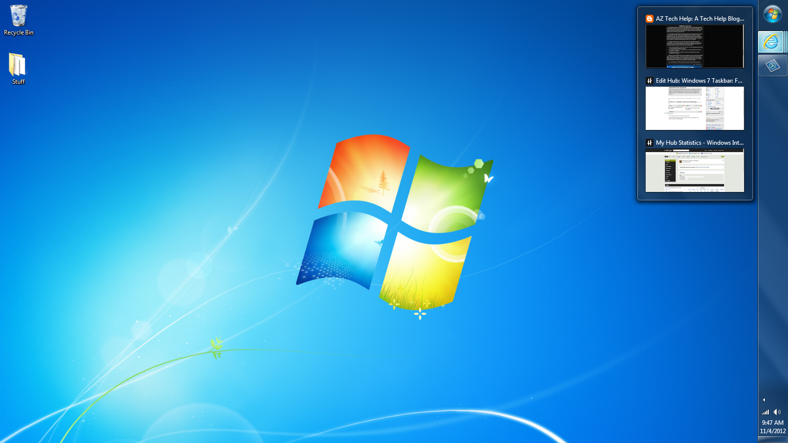Windows 7 Taskbar Features Settings Windows Wallpaper Windows Microsoft