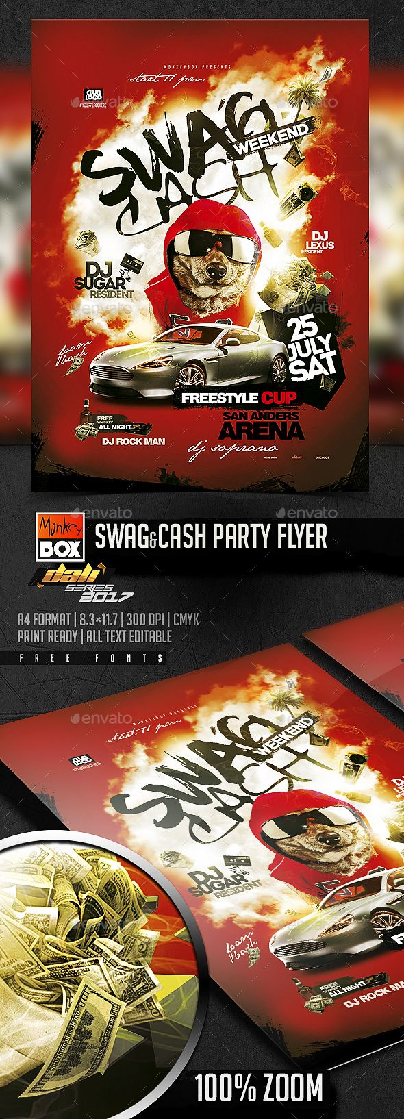 Swag&Cash Party Flyer | Party flyer, Flyer template and Flyer printing