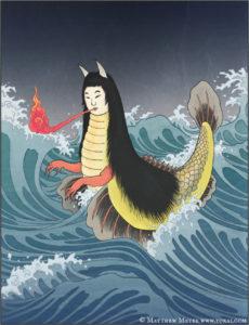 akugyo yokai com mermaid found japan sea of japan