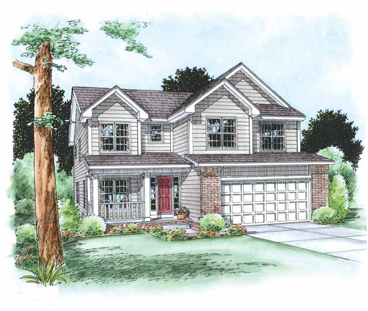 Traditional Style House Plan 4 Beds 3 Baths 2429 Sq Ft Plan 20 1769 Traditional House Plans House Plans Country House Plan