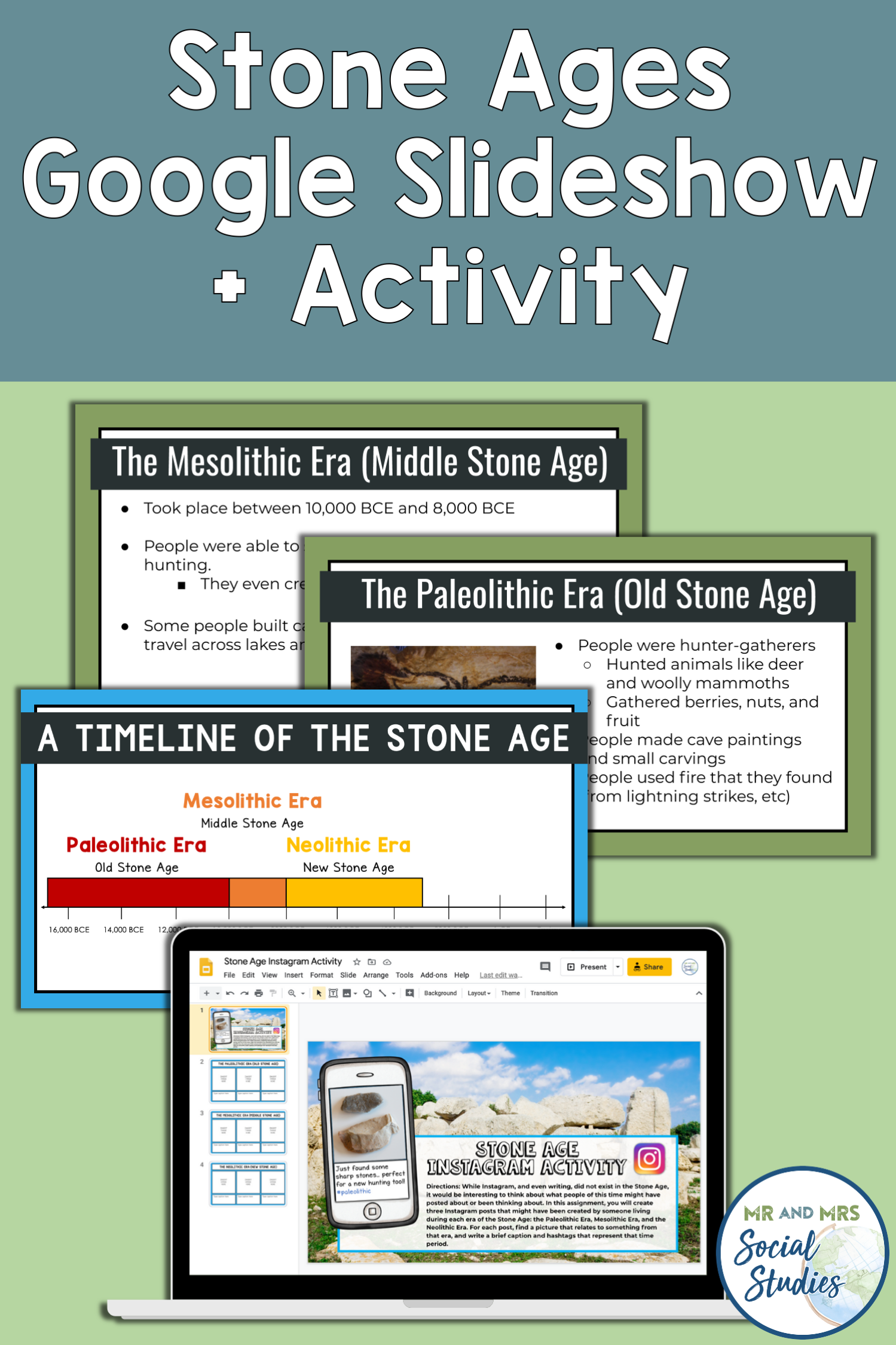 Stone Ages Instagram Activity With An Editable
