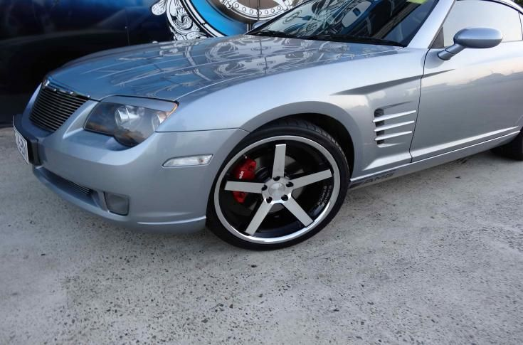 Chrysler Crossfire With Stance Sc 5ive Black Machine Face Wheels