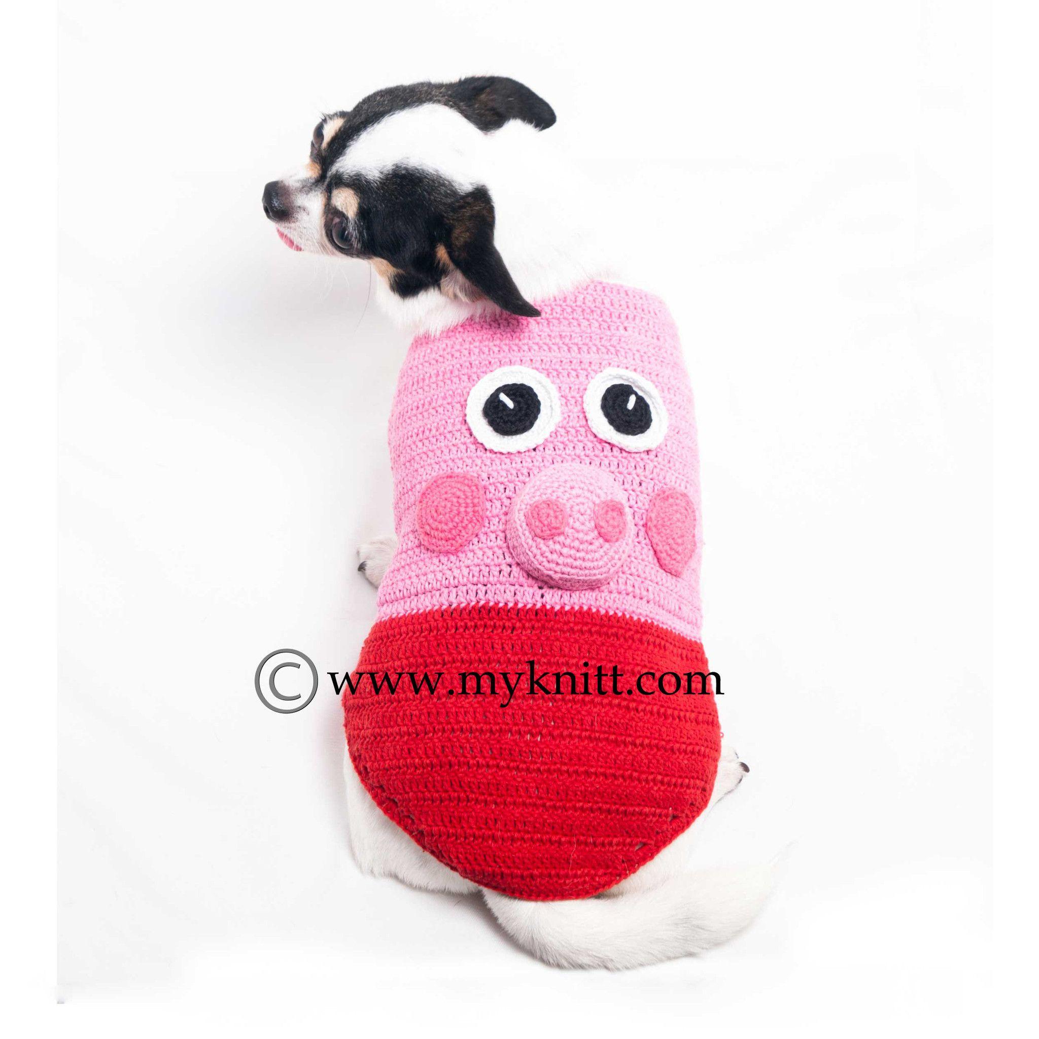 Peppa Pig Dog Costumes Unique Handmade Crochet Dk998 Dog