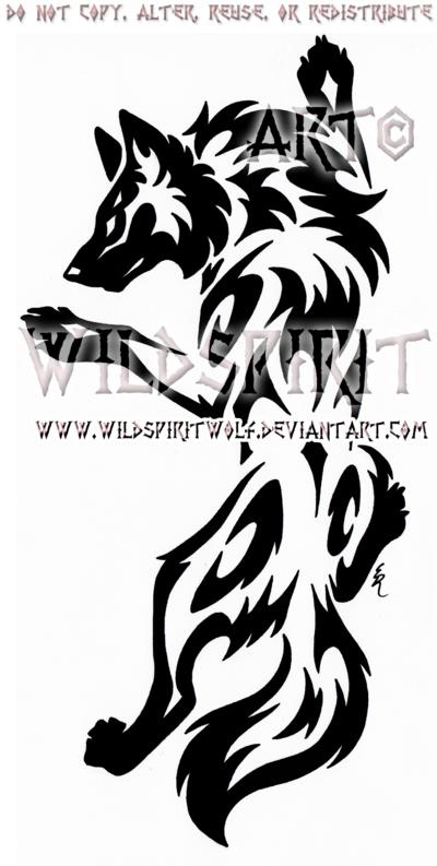 ca90ca611 Yin Yang Set Climbing Tribal Wolf Design by WildSpiritWolf on DeviantArt