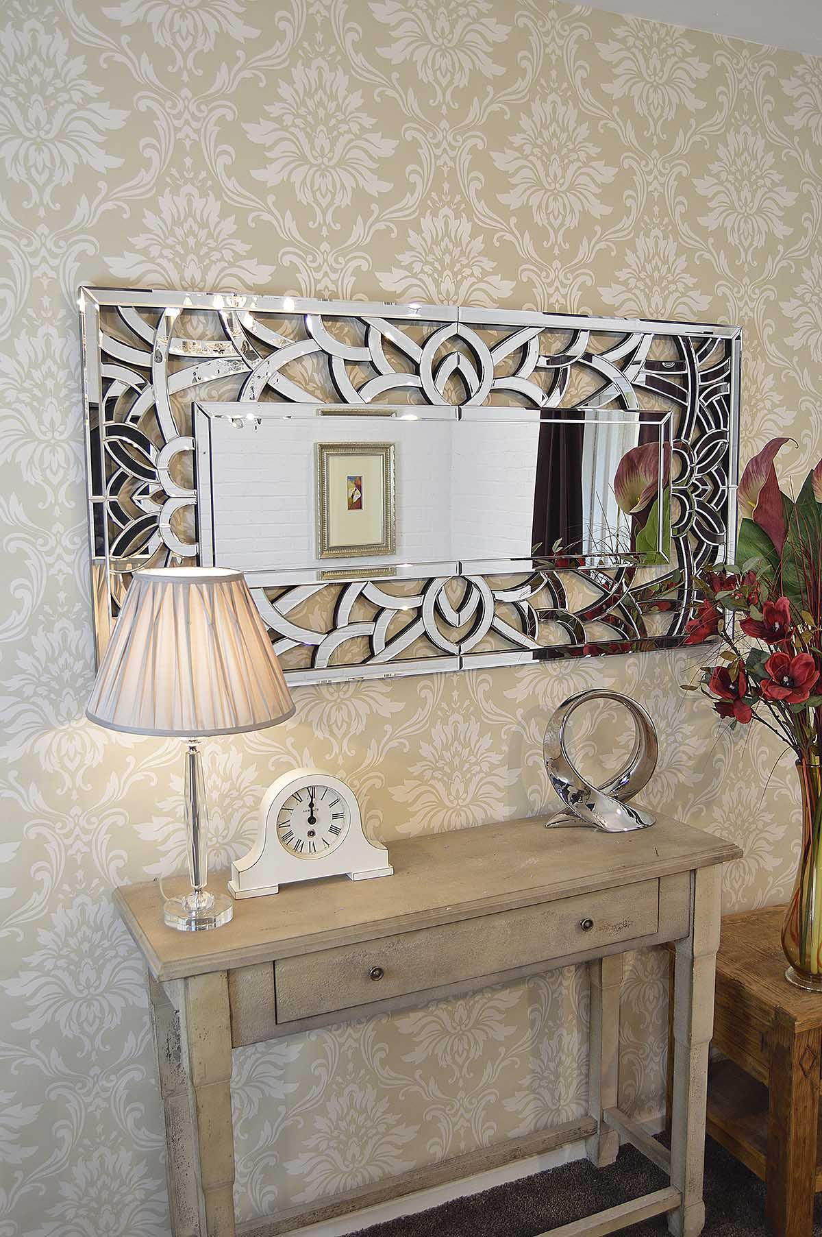 Large Exclusive Modern Swirl Design Wall Mirror X X