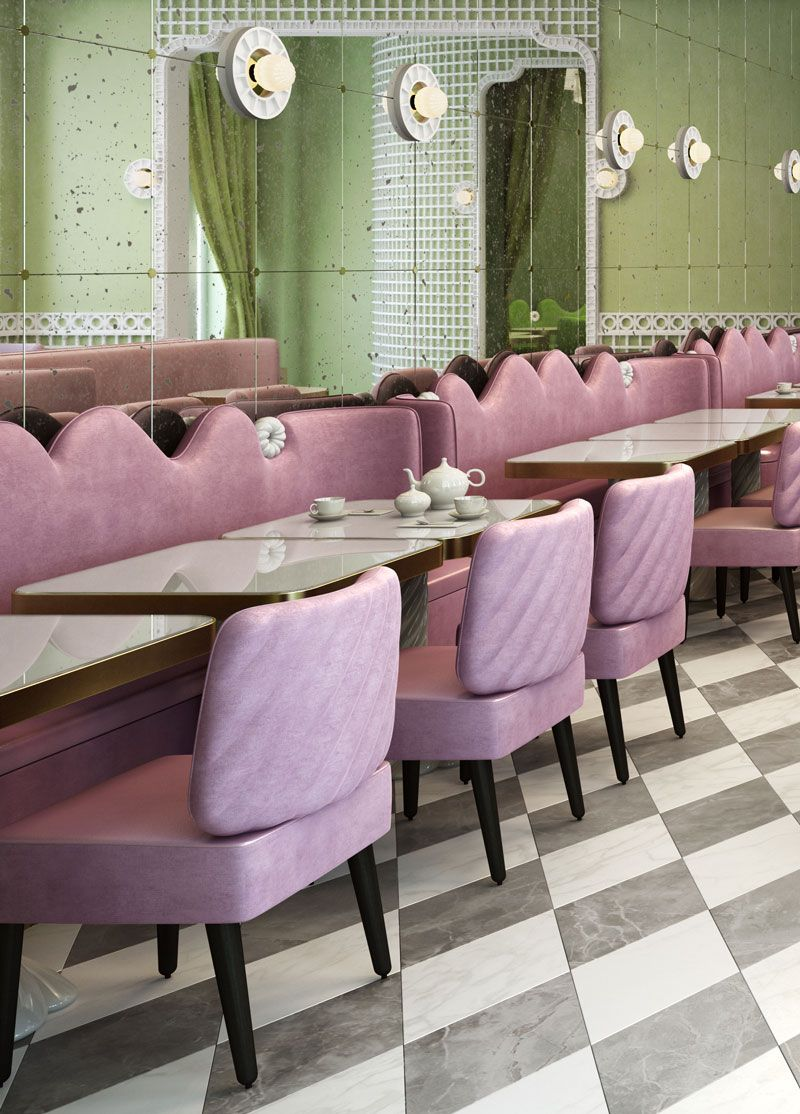 india mahdavi's new ladurée in geneva | geneva, interiors and