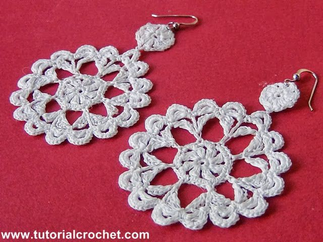 Tutorial Crochet: Orecchini Crochet: Tutorial Uncinetto