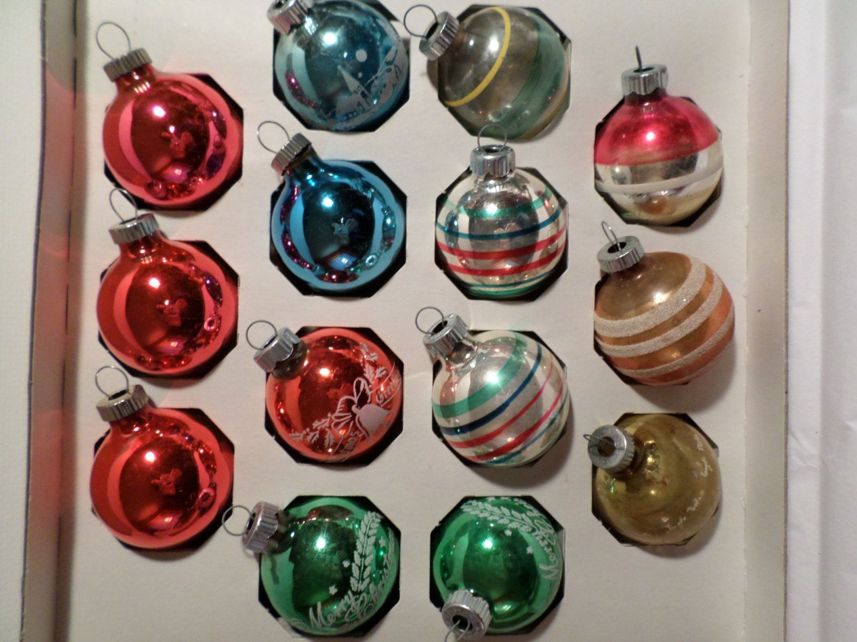 14shiny brite glass ornaments 1950s christmas christmas decorations christmas ornaments