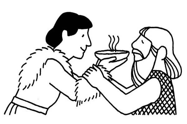Jacob Offered Esau a Bowl of Stew in Jacob and Esau ...