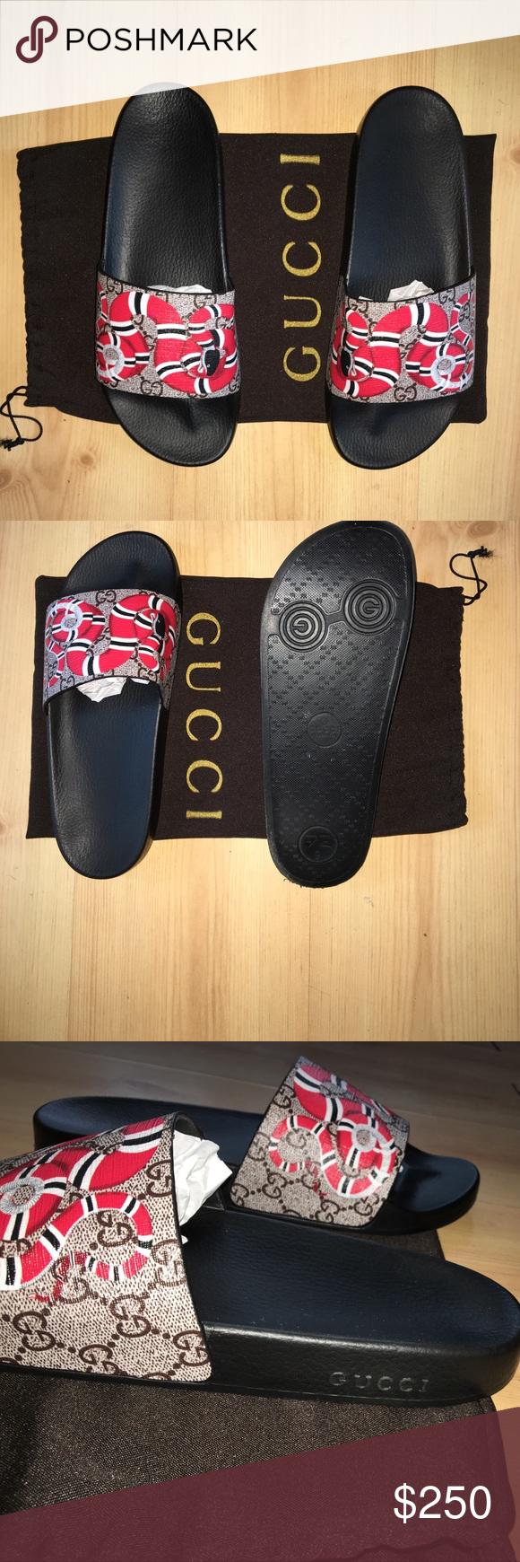 0127180aa26 Gucci GG Snake Slide Sandals Popular Gucci snakes slide sandals size 9  women or men Gucci Shoes Sandals