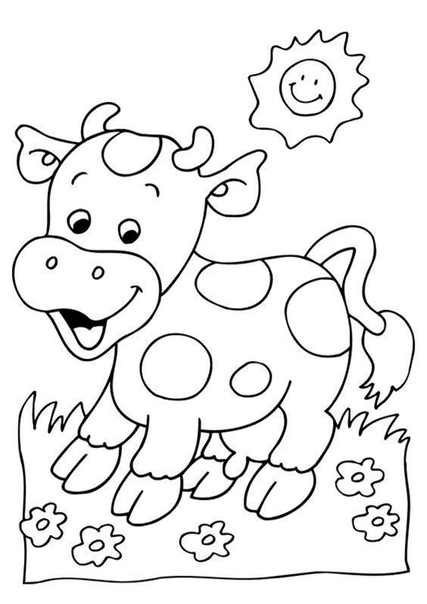 Free & Easy To Print Cow Coloring Pages in 2020 Cow