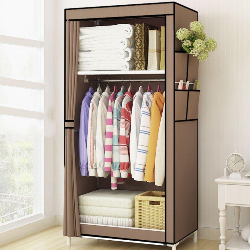 aa22f45404f1a comprar Estudiantes dormitorio pequeño armario individual paño plegable  armario portátil armario ropa muebles para el hogar