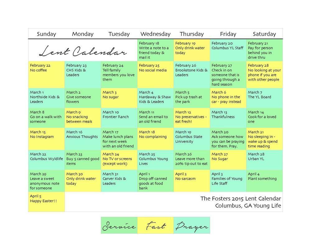 Service Fasting Prayer Lent Calendar Lent Prayers Prayer