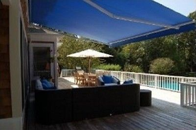 Retractable Patio Awning Manual 10 X 8 Sun Rain Protection Many Colors Deck  New