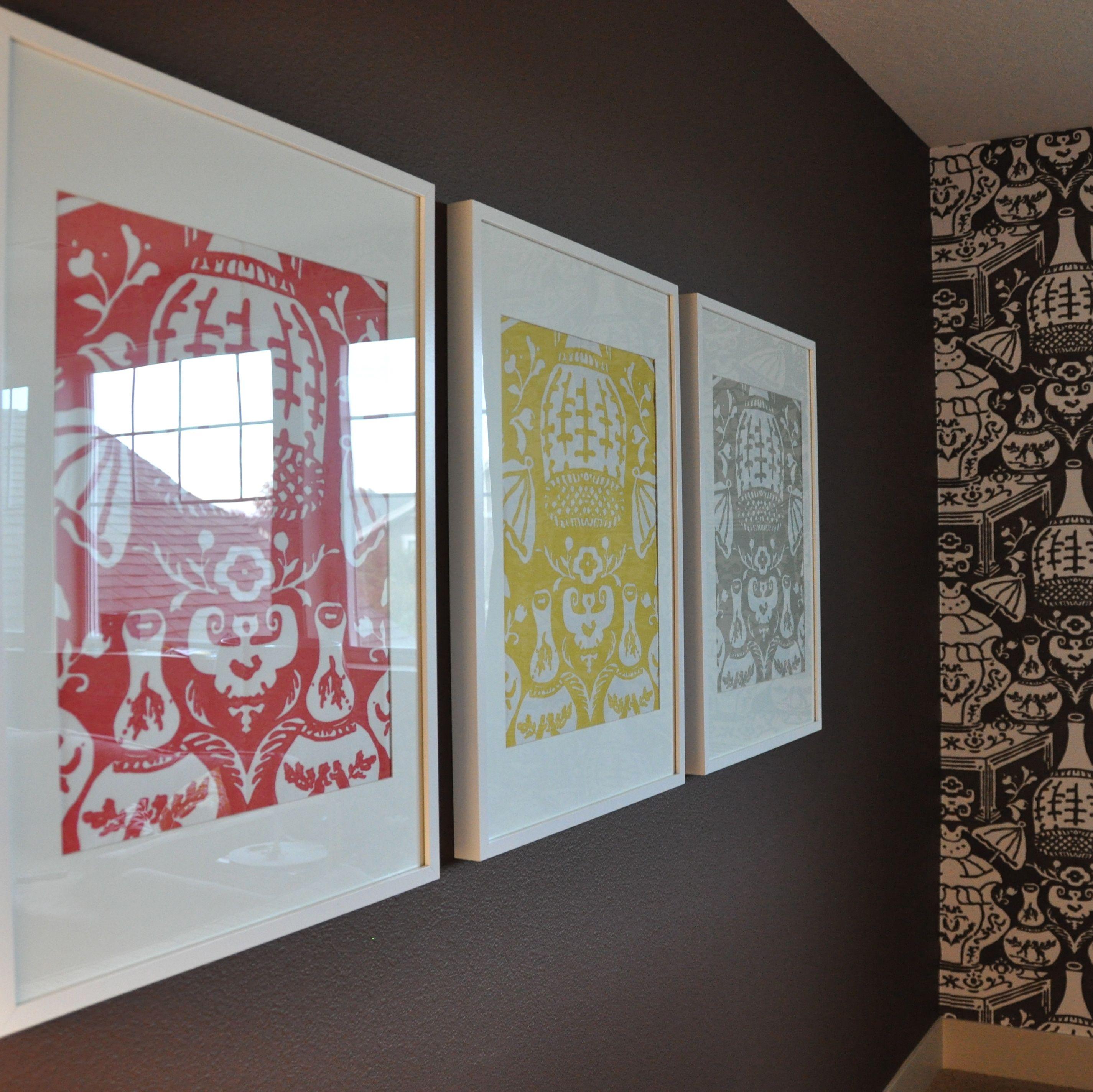 Modern interior wallpaper swatch - Wallpaper Samples In Ikea Ribba Frames Simple Fun