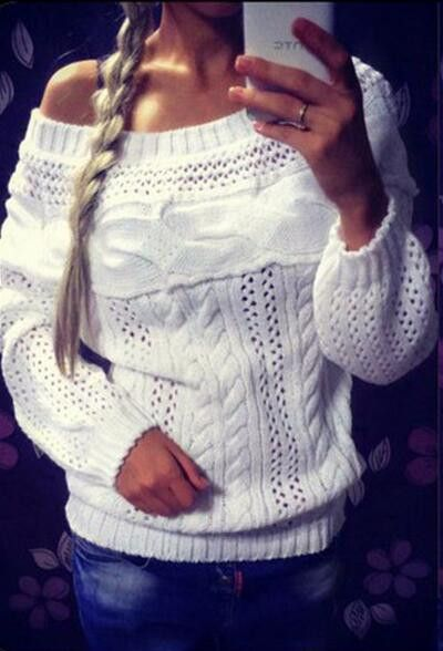 Cupshe Knitz By For Love Hollow Sweater