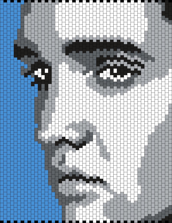 Elvis Presley (Multi/Brick Stitch Pattern) | Crafts... | Pinterest ...