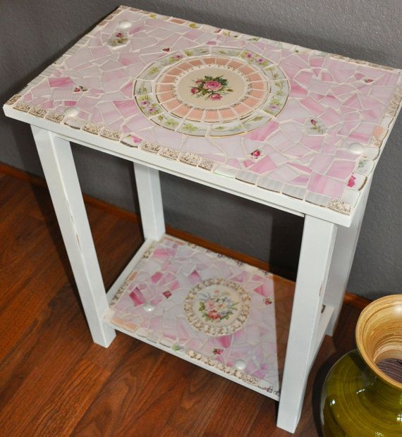 Mosaic Table With Vintage China And By 2ndtimearoundmosaics