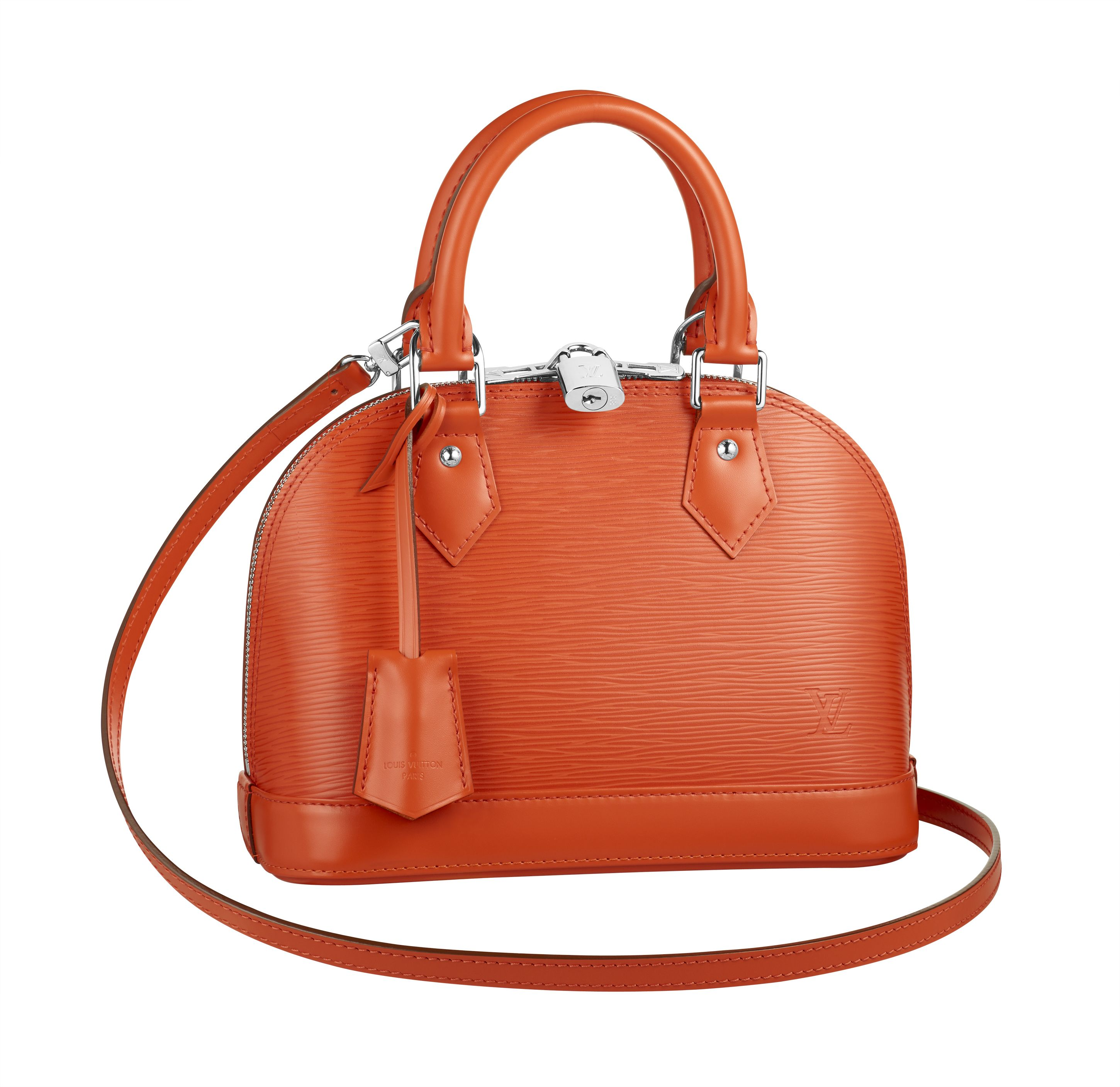 Find Louis Vuitton Love with the Alma BB in Epi Piment.