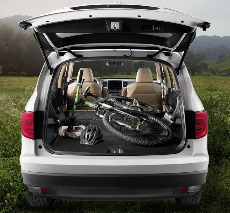 How Do You Transport Your Bike With The New 2016 Honda Pilot You Can Store Your Bike On The Outside Or The Ins Honda Pilot 2016 Honda Pilot Cars Organization
