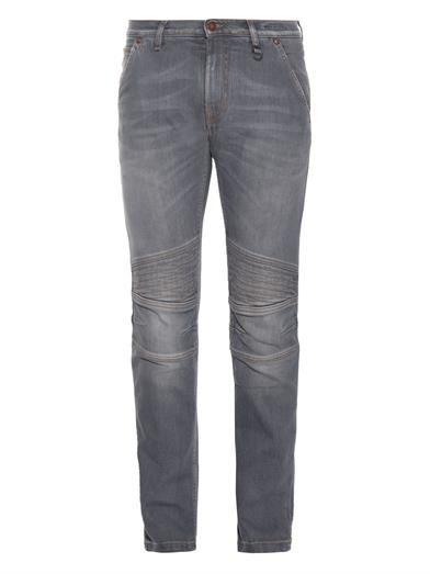 Michael Bastian Biker-style jeans