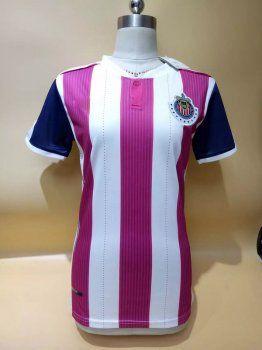 the latest df4c5 8ca04 Women Chivas 17-18 Season Pink Third Liga MX Shirt Jersey ...