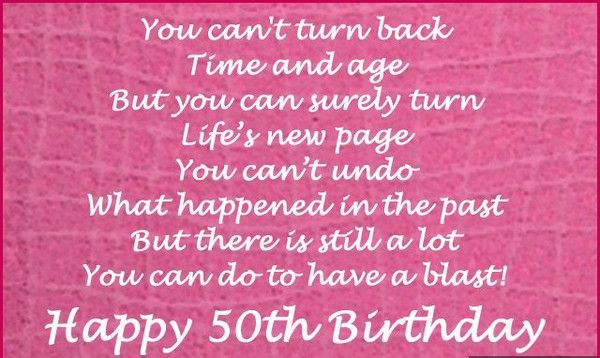 50th Birthday Messages Happy Quotes Cards Mother In
