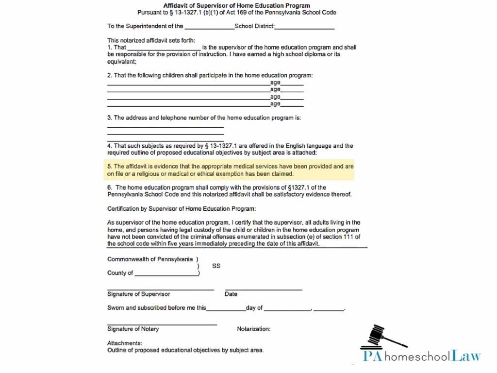 How To Homeschool In Pa Part 1 Elements Of An Affidavit