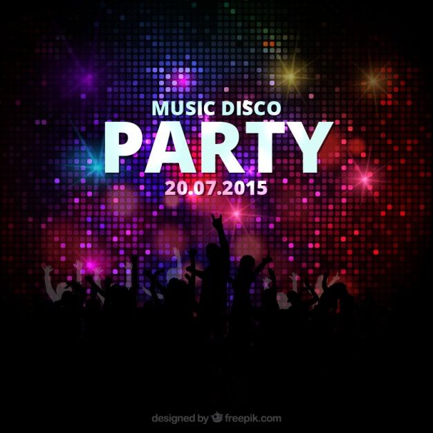 Music Disco Party Poster Free Vector  Dark Design