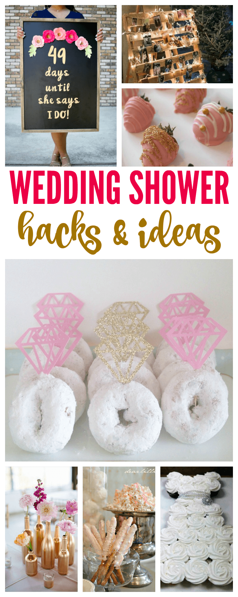 Wedding Shower Hacks & Ideas! How to throw the best bridal shower for a bride to be! #bachelorettepartyideas