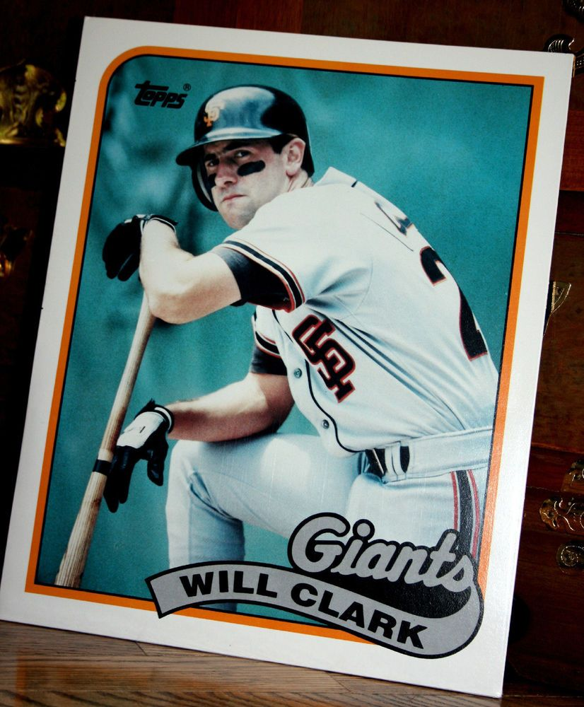 Will Clark 1989 Topps 660 Duo Tang 11 14x 9 12 Two Pocket