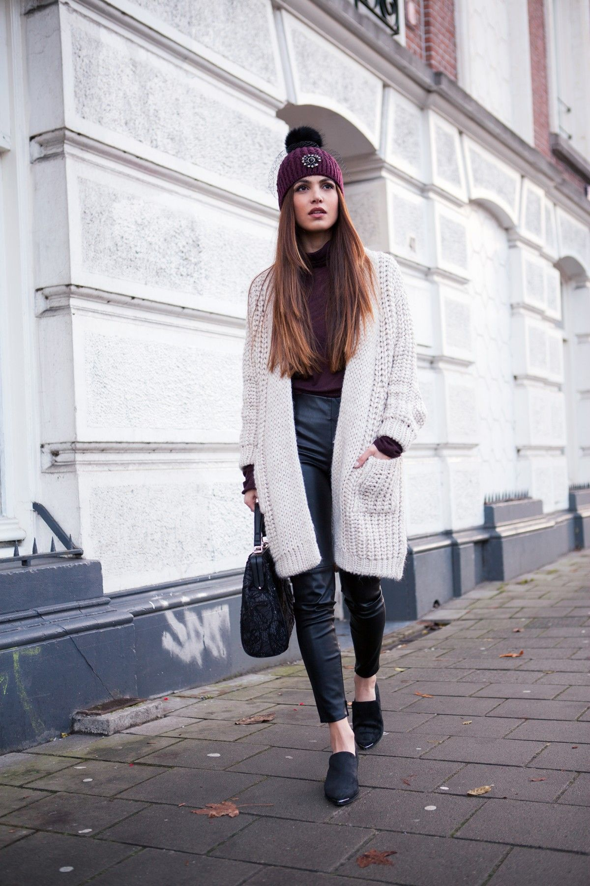 long cardigan outfits an autumn fashion trend | long knit