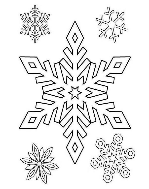 Winter Season Gorgeous Winter Season Snowflake Pattern Coloring