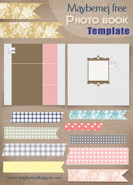 Maybemej Free Photo Book Template Free Printables Scrapbook