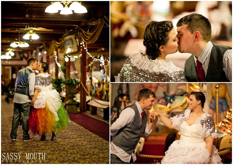 Sassy Mouth Photography - Carnival Wedding - Jessica and Cliff - The New England Carousel Museum - Bristol, Connecticut (18)